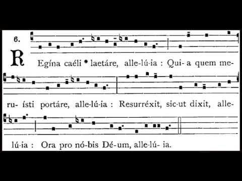 Regina caeli en gregoriano con punctum quatratum