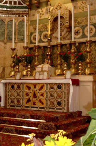 Partes de la misa el altar